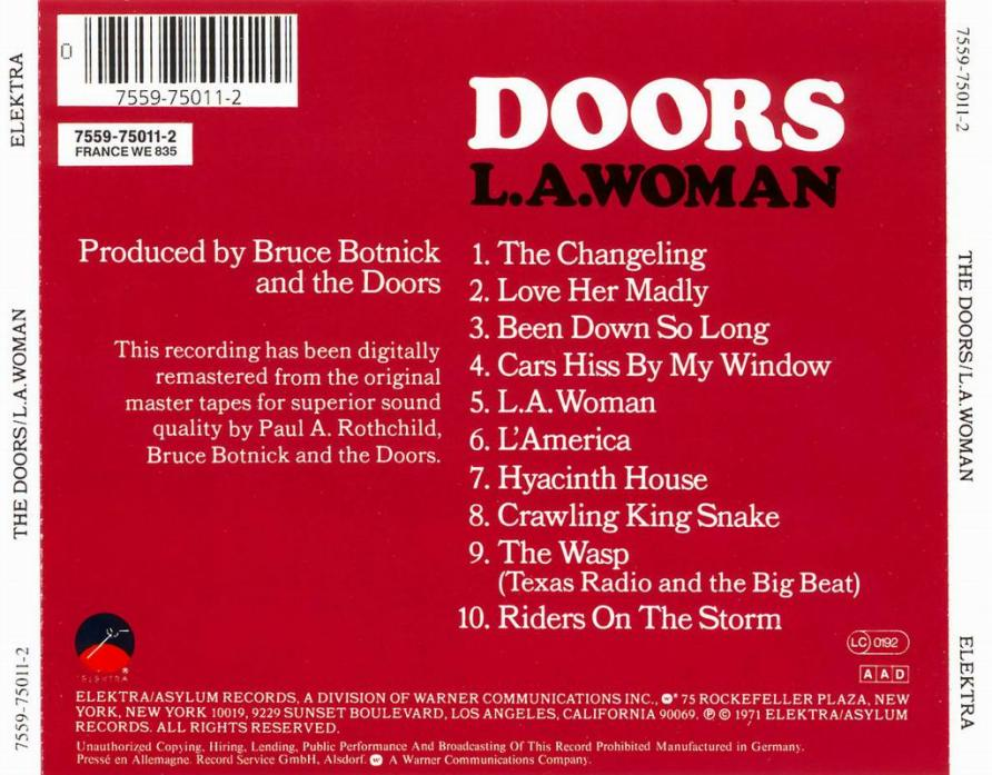 The Doors Diskografie Lyrics Cover